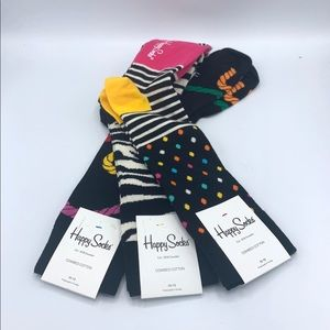 Set of 3 Pairs of Happy Socks.  Size 10-13.  NWT